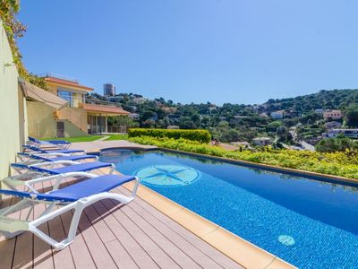 Photo for Club Villamar - Luxury spacious villa with private pool, beautiful sea views and located in a qui...