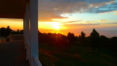 Sunrise from the large front porch