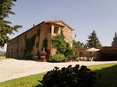Photo for Wonderful private Farmhouse  immerse in the hilly Tuscan countryside