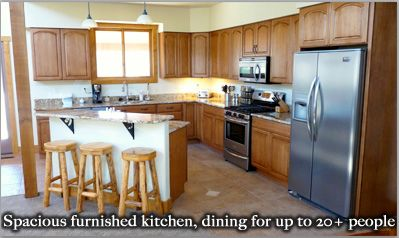 Stocked kitchen with dining area for up to 35 people!