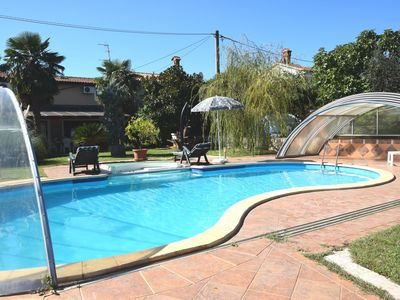 Photo for Nice family holiday home with pool, large garden, outdoor kitchen, sea 5 km