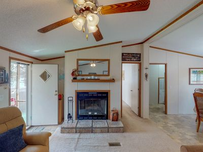 Photo for Dog-friendly, waterfront home w/ a private dock & outdoor firepit