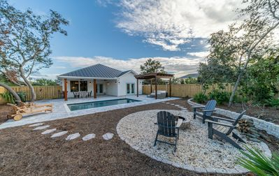 Photo for BID-A-WEE BEACH BUNGALOW!! Private Saltwater Pool ~ Private Beach Access ~ Fire Pit