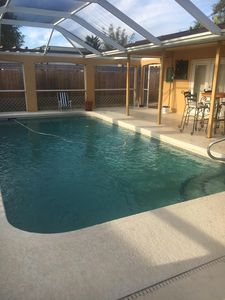 The Captains Quarters efficiency apartment with pool.
