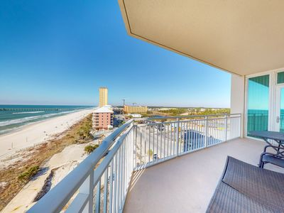 Photo for Stunning oceanfront condo w/shared pool, hot tub, sauna, & sweeping water views