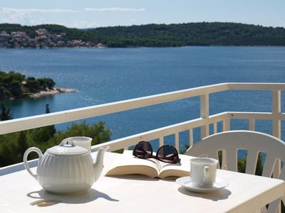 Photo for Yellow House A3, Grate sea view from private balony, close to Trogir and beaches