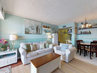 Photo for Charming, nautical-themed condo by the beach w/ balcony & shared pool