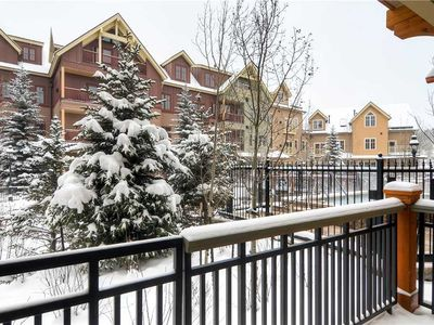 Photo for Mountain modern condo with private balcony; hiking/biking trails close by