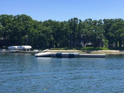 Photo for Perfect Family Getaway - Sandy Beach, 22 Ft. Pontoon, Water Trampoline and More!