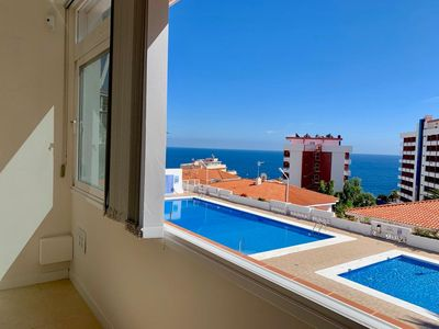 Photo for Nice apartment with pool, terrace and sea views
