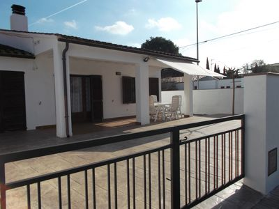 Photo for Lovely 2 bedroom house, very short walk to the beach of Riells, shops and bars