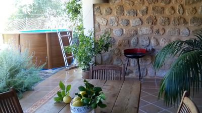 Photo for beautiful stone house. pool and Jacuzzi bath, air conditioning. ,5minutes center