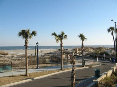 Panoramic view of Tybee Beach from your private balcony