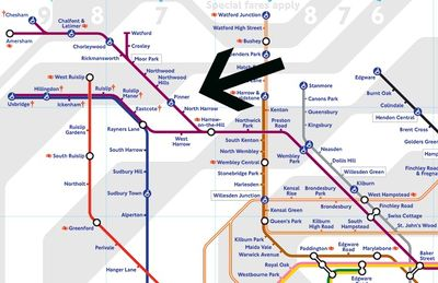 The nearest tube station is Pinner (metropolitan line), a short and easy walk.