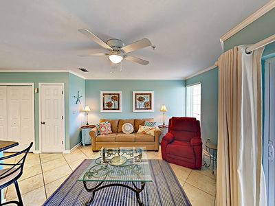 Photo for 1BR Condo w/ Gulf View, Balcony, & Pool – Walk to Beach, Boating, Dining