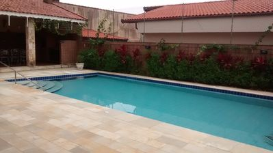 Photo for Comfortable house with pool 100m from the beach in Peruibe, great location.