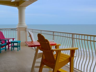 Photo for Stunning Direct Beachfront Corner Condo, Pet Friendly, Pool & 2 Hot Tubs