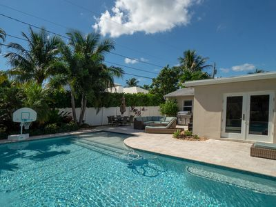 Photo for Added Bonus!!! Beach style home, Oversized pool with great outdoor space!!!