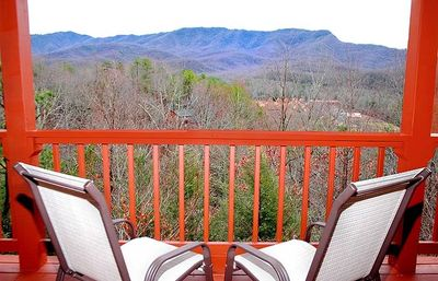 Photo for FREE ATTRACTION TICKETS, Close to Downtown Gatlinburg, Log Cabin, Mountain Views, HOT TUB