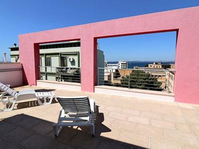 Photo for Gallipoli Panoramic View apartment in Gallipoli with air conditioning, private roof terrace & lift.