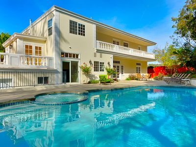 Photo for Ocean View Estate w/ Private Pool+ Hot Tub, Walk to Village