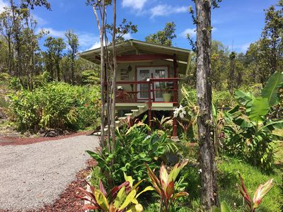 Photo for Volcano Off the Grid Eco Cabin Retreat in the heart of the tropical raiforest.