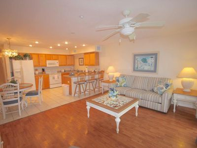Photo for Pet Friendly, Beachside, Walk to Restaurants! Pool, Free Cable & Wi-Fi, W/D -103b Beachside Villas