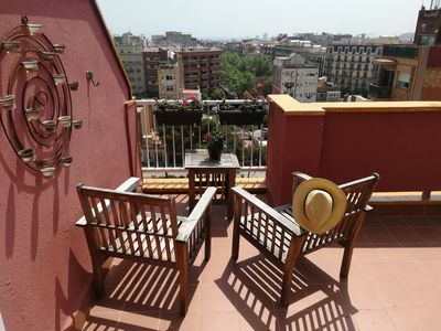 Photo for Central penthouse, sunny with terrace and views to the sea!