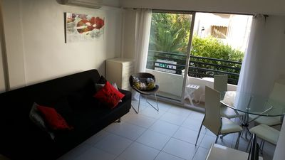 Photo for Beautiful open concept apartment street behind La Croisette & Cannes beach