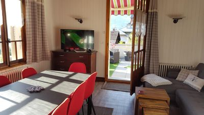 Photo for Center St Gervais 3 BEDROOMS, 2 BATHROOMS, TERRACE 50 SQM, PARKING, BIKE LOCAL, WIFI