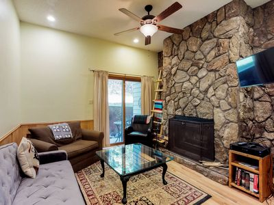 Photo for NEW LISTING! Walk to skiing from dog-friendly condo- sledding, disc golf nearby