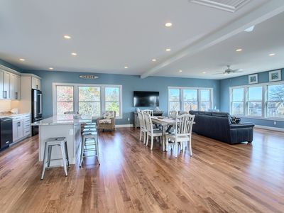 "Photo for Walk to beach from gorgeous new home, ""accessible"" with elevator and ocean views"
