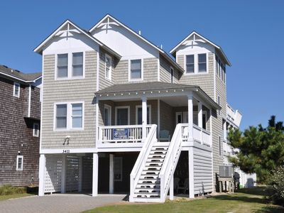 Photo for Avalon: Old Nags Head Place neighborhood with a private pool and hot tub.