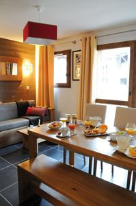 Our apartment features traditional decor and modern amenities