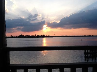 Photo for 2 Br/1 Ba Waterfront Townhome With Amazing Sunsets