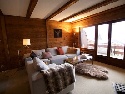 Photo for Lovely three bedroom apartment in the centre of Verbier
