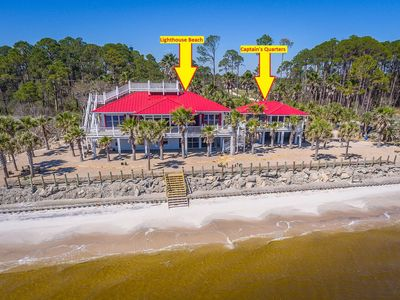 Photo for Captain's Quarters is located on Carrabelle Beach!  Beautiful Sunrises and Sunsets
