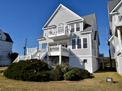 Photo for Super off season rates, beautiful 5 Br / 4.5 Ba Oceanfront, Hot Tub, Comm Pool