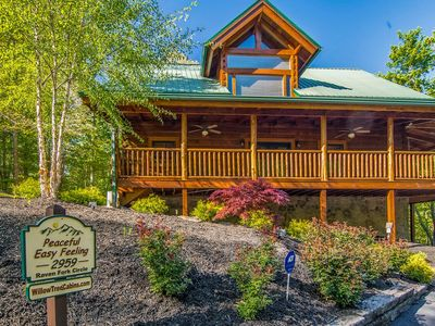 Photo for NEW CABIN!!  BOOK NOW!! Hot Tub, Pool, Smoky Cove Resort