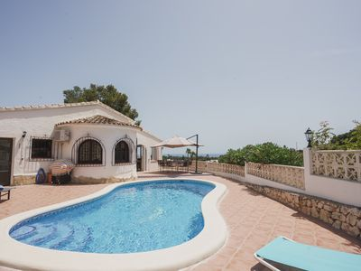 Photo for Holiday villa with beautiful sea view with private swimming pool.