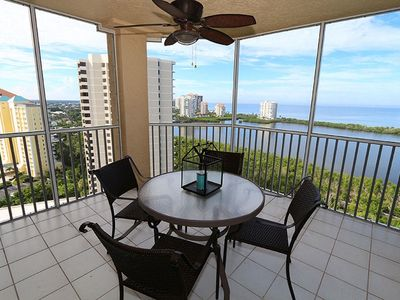 Photo for Breathtaking Gulf water views from 18th floor, in Pelican Bay