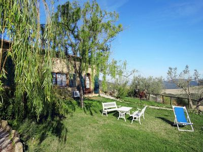 Photo for Beautiful apartment in villa for 4 people with pool, TV, pets allowed and parking