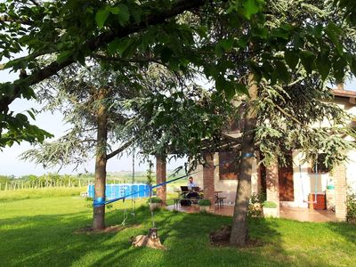 Photo for Portion of country house, with pool, porch, hills view. Total relaxation