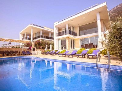 Photo for Stylish 5 Bedroom Villa with Large Infınıty Pool and Stunning Sea Views