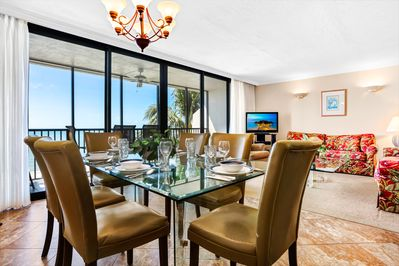 Dining Room & Living Room with panoramic views of the Gulf of Mexico