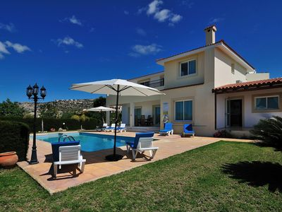 Photo for Villa Kolikas Tria - 4 bedrooms - Great terrace area with sea views - Great for families
