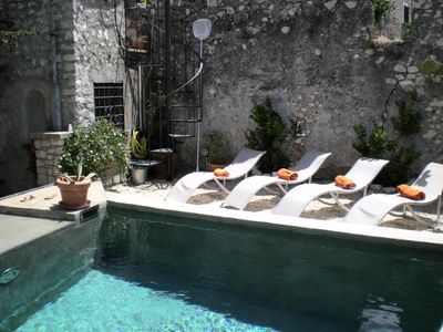 Photo for Sermoneta, Historic Stone House with Pool, in a Medieval Hill Town Close to Rome and Naples