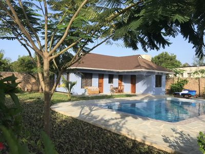 Photo for Villa with private pool, very quiet, beautiful garden, very close to the beach.