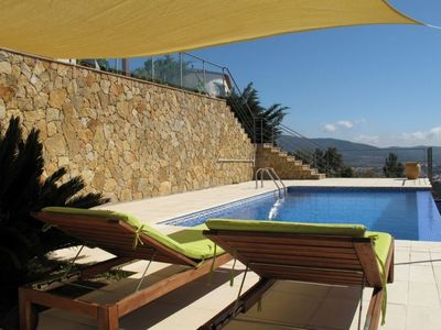 Photo for Beautiful designer house with fantastic sea views. Private pool and free WIFI.