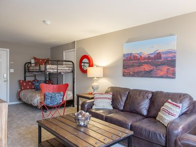 Photo for Modern, comfortable upstairs 1 bedroom in town ~Purple Sage Flats 7
